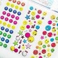 10 unids/lote Kawaii Pegatinas Cara de La Sonrisa Para El Cuaderno de la Escuela Los Niños Recompensa Emoji Smiley Niños Etiqueta Engomada de la Burbuja Juguetes de Dibujos Animados 670