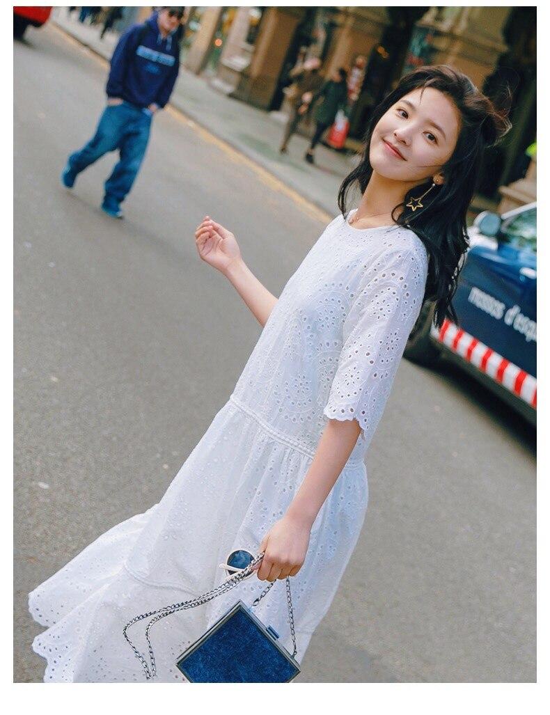Vestido largo bonito blanco de verano 2018 para mujer-in Vestidos from Ropa de mujer    3