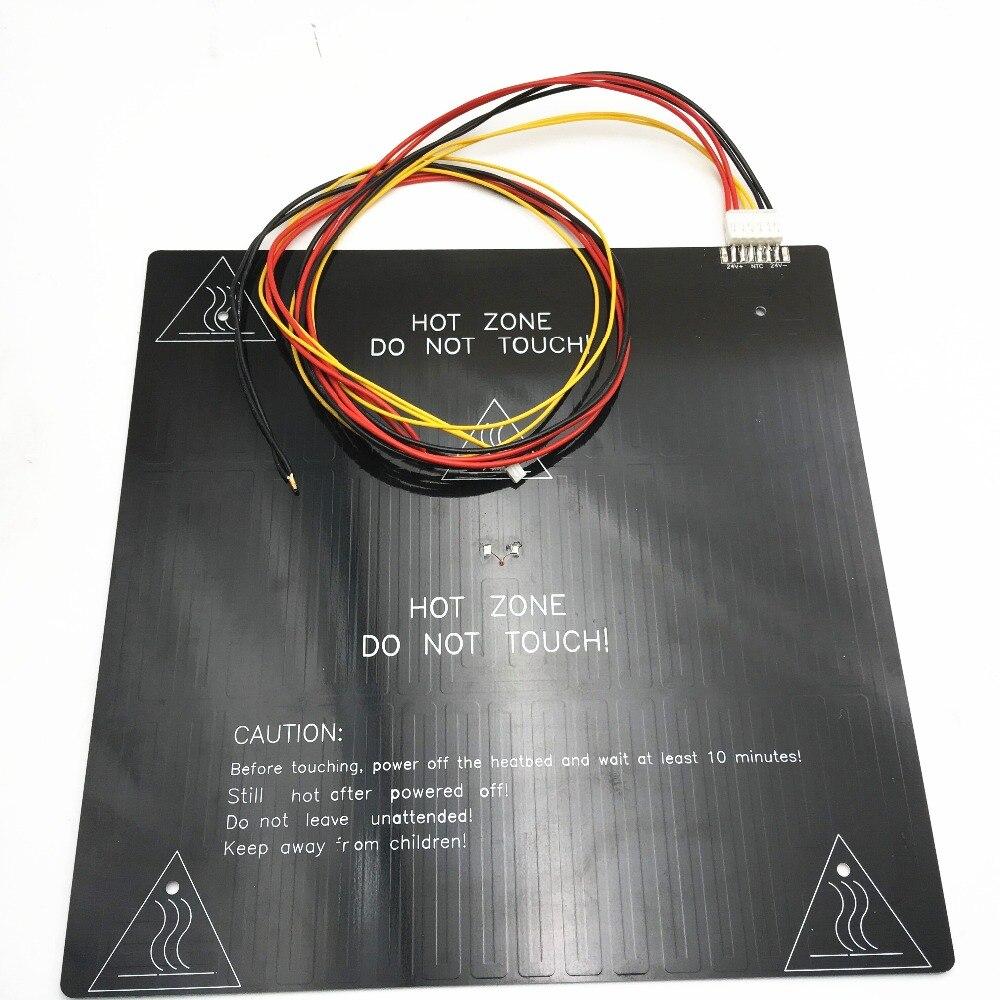 Funssor 24 v 220 w Grande Taille D'impression En Aluminium Chauffée Lit Mis À Niveau En Aluminium Chauffage Lit Foyer pour CR-10 310 * 310*3mm
