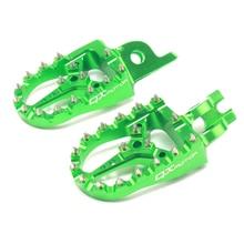 CNC Billet MX Foot Pegs Rests Pedals Footpegs For KX KLX KXF KX250F 2006-2016 KX450F 2007-2016 KLX450R 2008-2013