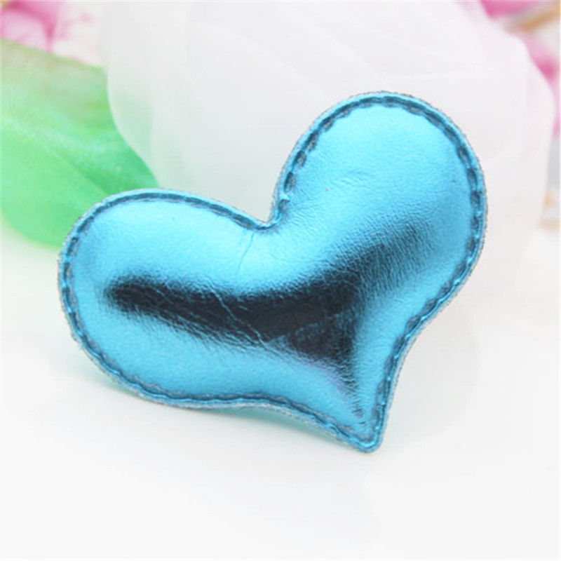 Wholesle 50PCS Bling Blue Christmas Decoration Love Heart Crafts DIY Jewelry Accessory Material Girls Hair Bow Center Decor