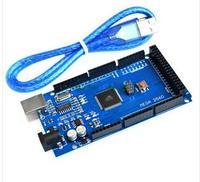 Free Shiping 2pcsMega 2560 R3 Mega2560 REV3 ATmega2560 16AU Board USB Cable Compatible For Arduino Good