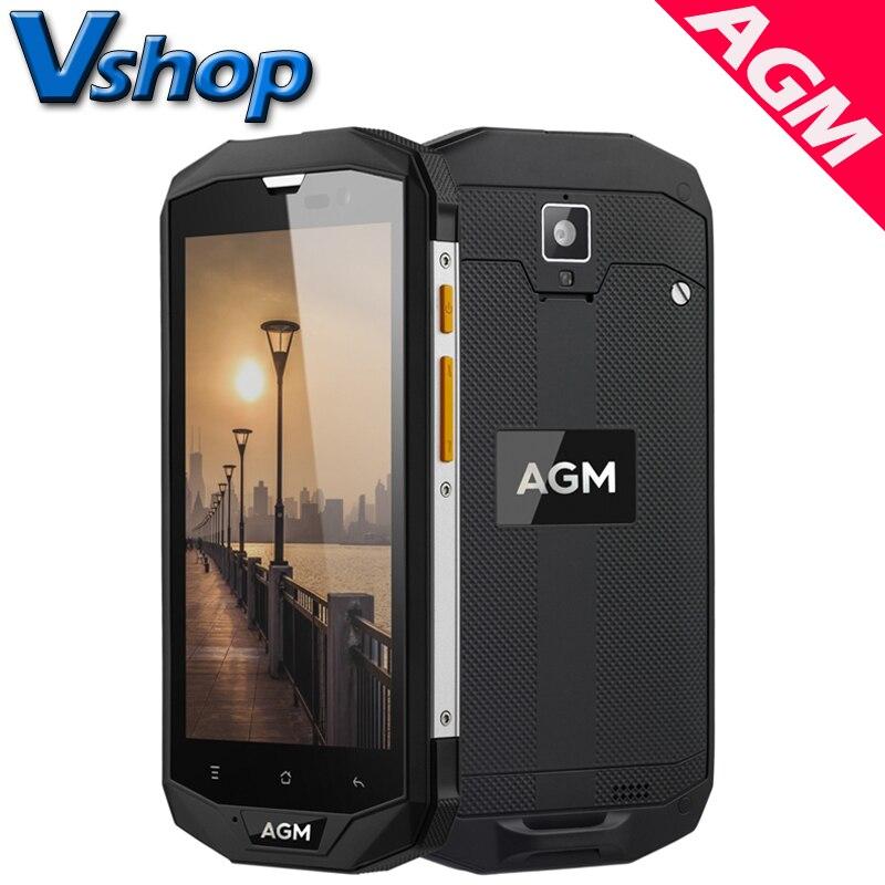 bilder für Original AGM A8 4G LTE Handys Android 7.0 3 GB/4 GB RAM 32 GB/64 GB ROM Quad Core Smartphone Dual SIM 5,0 zoll Handy