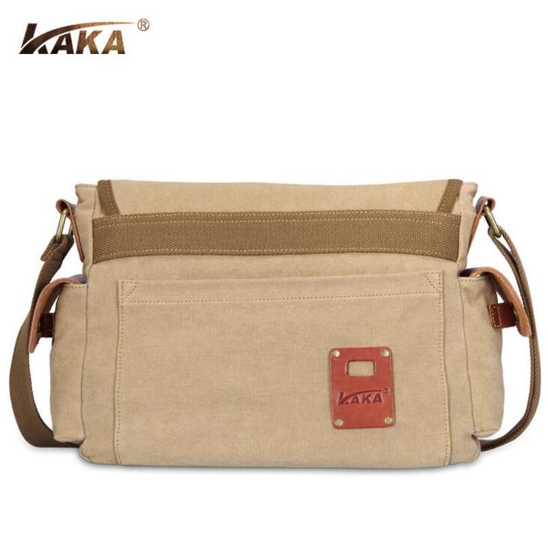 215dca54c414 Кака Холст Кожа Crossbody сумка мужчины в стиле милитари винтажные сумки  Марка большая сумка дорожные сумки Y079   Сумки через плечо с Алиэкспресс    Отзывы ...