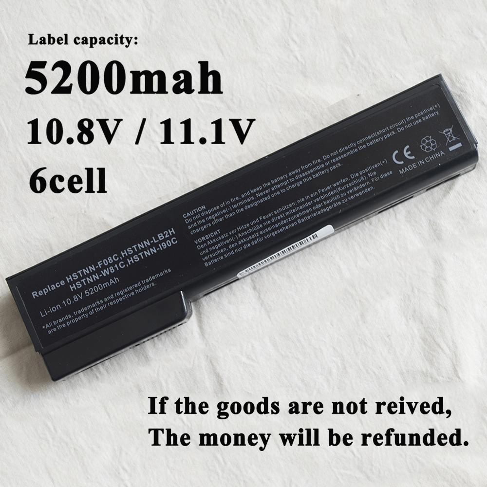 4400mAh Laptop <font><b>Battery</b></font> for <font><b>HP</b></font> <font><b>EliteBook</b></font> 8460p 8470p 8560p 8460w 8470w <font><b>8570p</b></font> 8770p <font><b>battery</b></font> 628668-001 628670-001 BB09 HSTNN-LB image