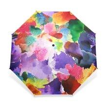 Винтажный великолепный цветной зонтик с цветочным узором, женский Автоматический Зонт от дождя для детей, подарок для девочки, дождевик, Прямая поставка
