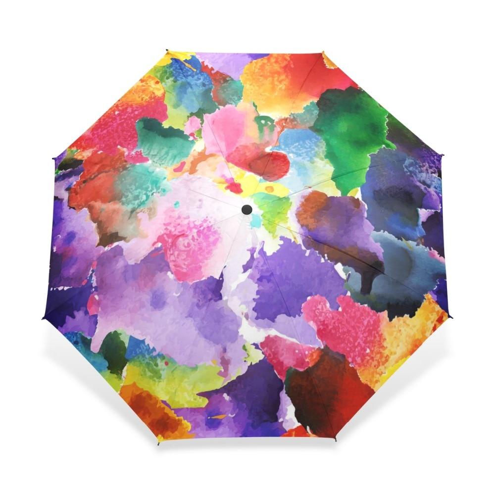 2019 Vintage Gorgeous Colorful Floral Pattern Umbrellas Women Rain Automatic Umbrella for Child Girl Gift Rain Gear Dropshipping