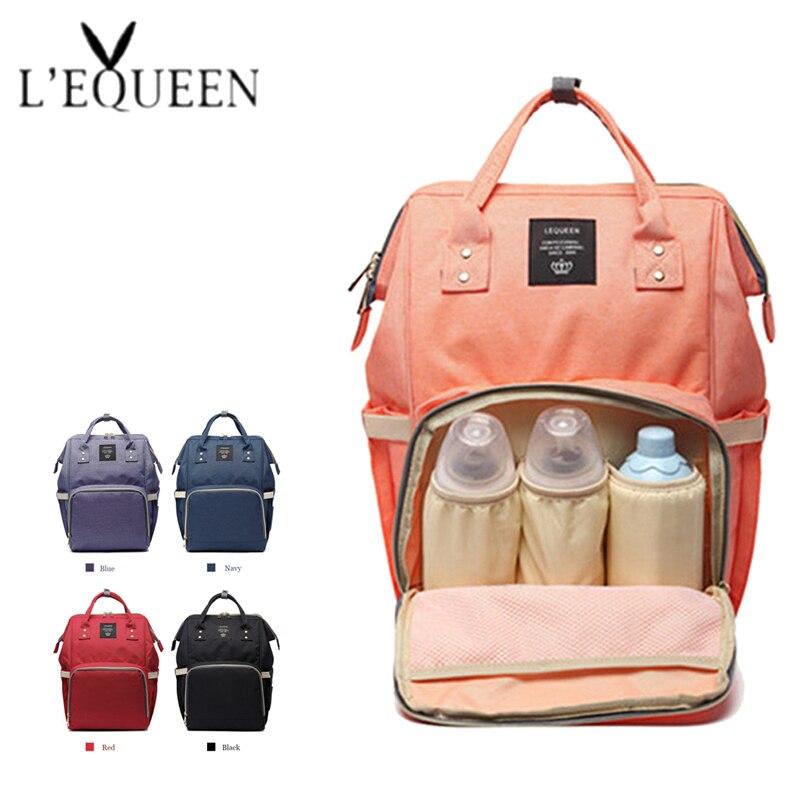 Bolsa de pañales de maternidad de moda para mamá, bolsa de viaje de gran capacidad para bebé, mochila de diseño para el cuidado del bebé.