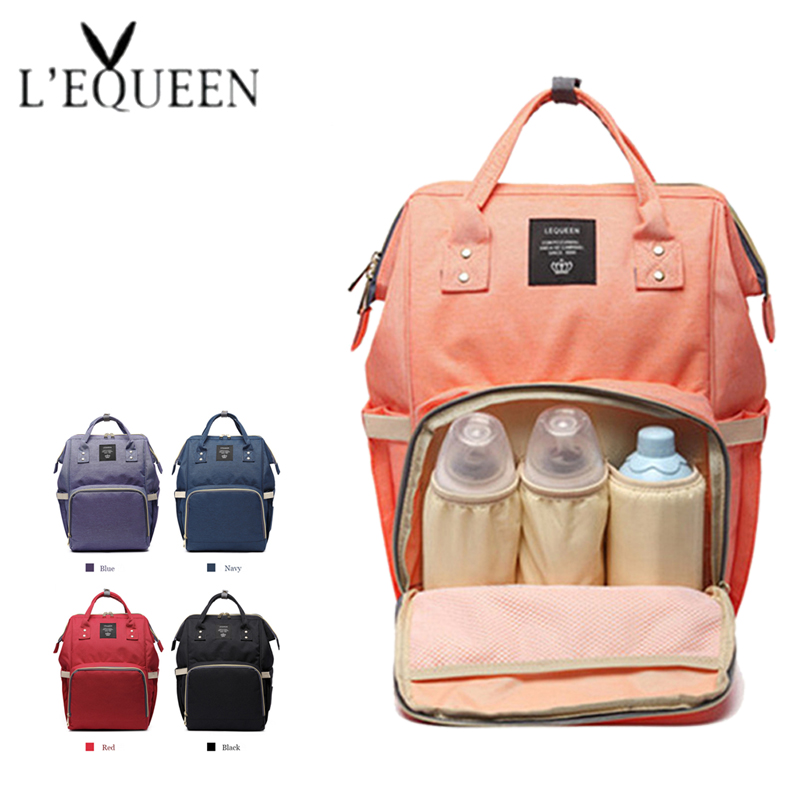 Lequeen Mummy Nappy Bag Fashion Brand Large Capacity Diaper Bags Baby Care Travel Backpack Designer Nursing Baby Bag Backpack