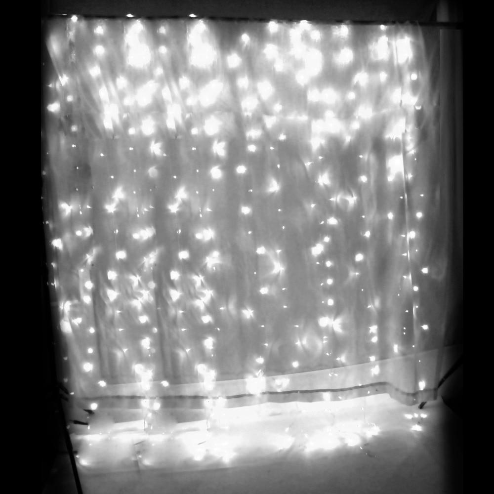 AU Plug 3x3M 300LED Window Curtain Light String Fairy For Wedding Party Festival Decoration