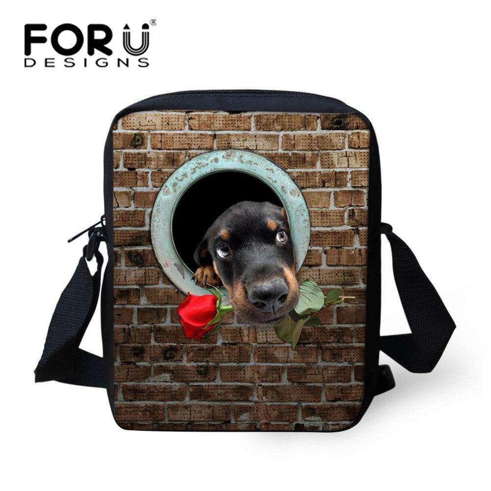 ed642f3f2e9 FORUDESIGNS Fashion 3D Animal Children School Bags Cute Mini Dog Zoo  Schoolbags for Boys Small Student Bookbag Mochila infantil