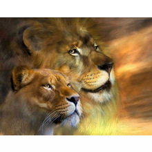 5D DIY Diamond Painting Lion Lover Full Square Embroidery Cross Stitch Forest King Animal Stick Drill Rhinestone