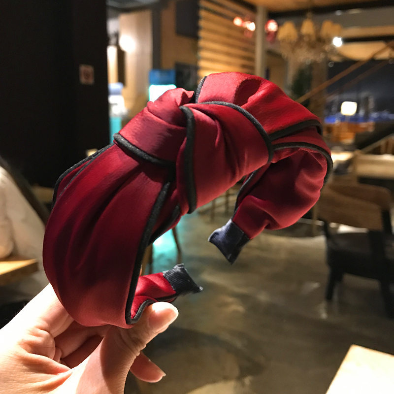 2018 New Fashion Style Hair Accessories For Women Girl Solid Cloth Headbands Girls Hair Bands Female Colorful Hairbands