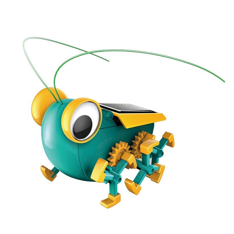 Enfants Expérience Scientifique DIY Solaire Power Toy Bug D'énergie Insectes Modèle Assemblé Jouets Solaire Nouveauté Jouets Enfants Cadeaux 8 Ans +