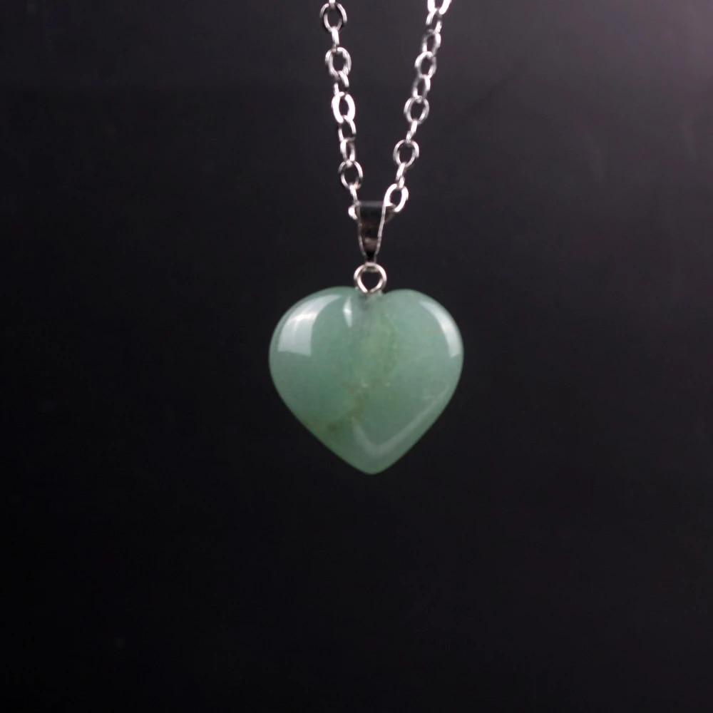 50pcs Green Aventurine Stone Heart bead Pendants Wholesale for Jewelry Making