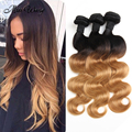 New Sale Brazilian Body Wave T1B/27 Ombre Brazilian Hair Ali Moda Hair Brazilian Human Hair Extensions 3 Bundles Star Style Hair