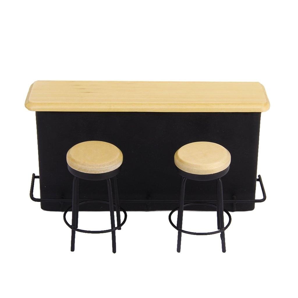 5 pack 1/12 dollhouse miniature meubles table et 2 chaises