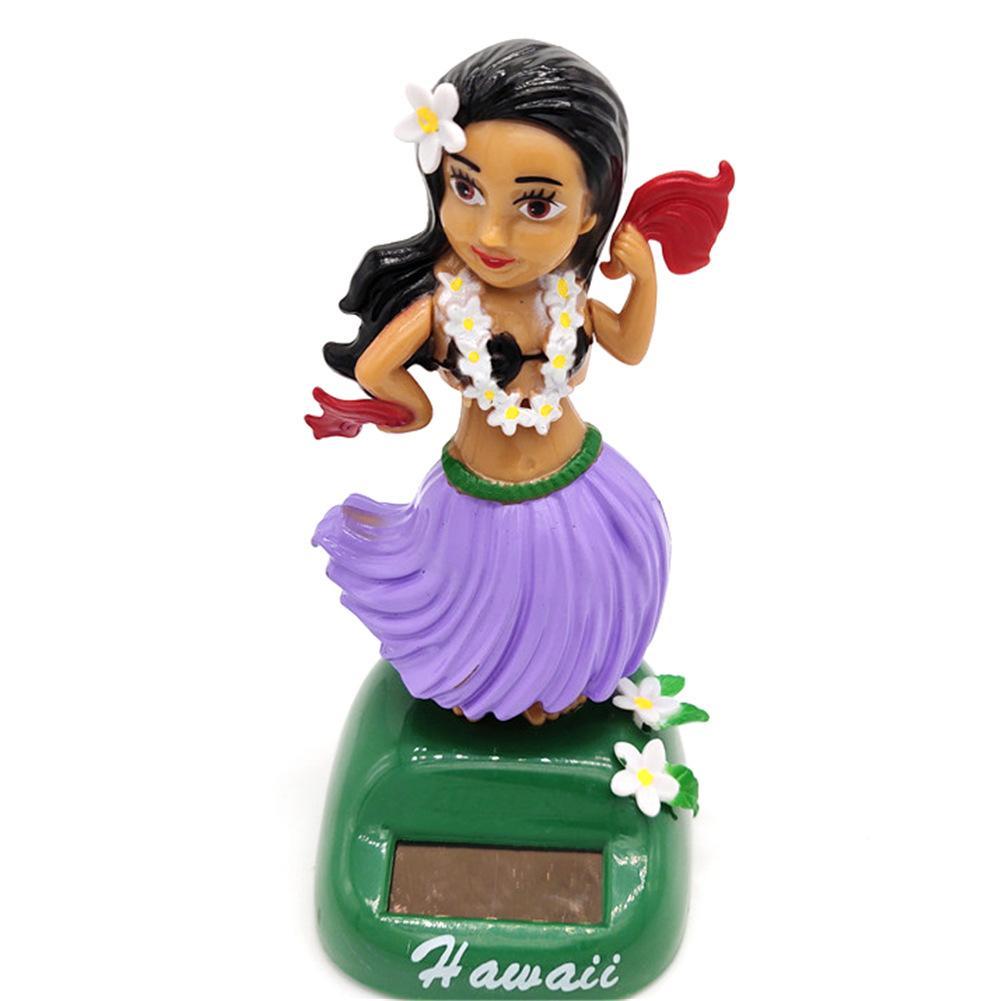 Солнечный танцующий Гавайский девочка хула качающаяся голова игрушка авто Интерьер декомпрессия приборной панели украшения автомобиля аксессуары для автомобиля - Цвет: D