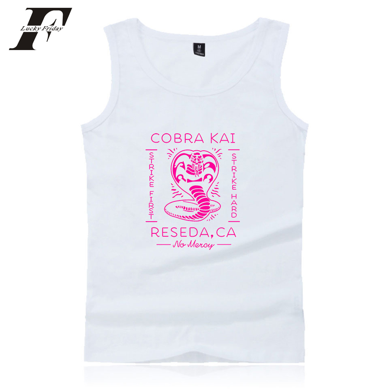 LUCKYFRIDAYF 2018 BTS Summer Hot Sale Cobra Kai Tank Tops Men/Women Cool sleeveless Cool Vests New Coming Oversize Clothing 4XL
