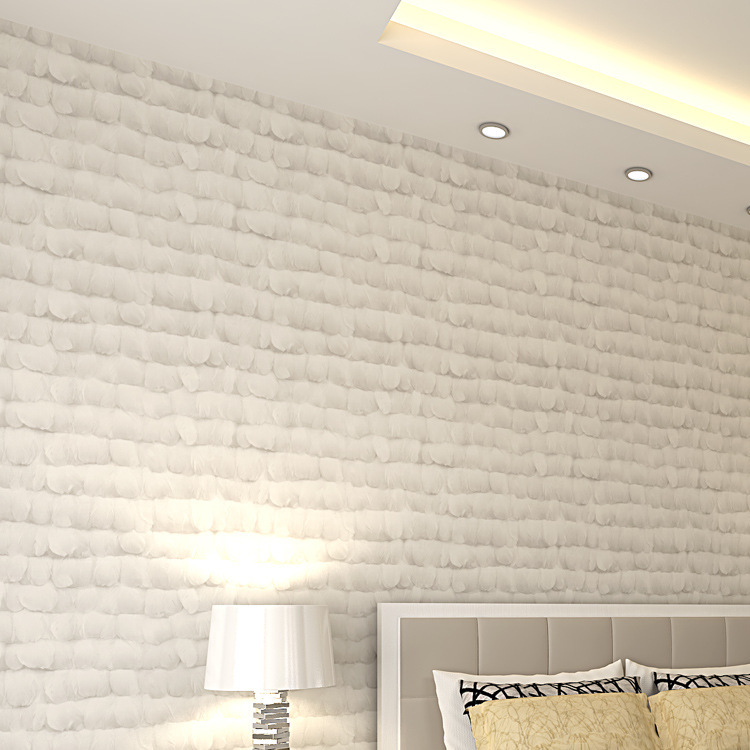 ФОТО 3D non-woven wallpaper Angel feather sitting room bedroom TV wall paper background bed undertakes for home family kid's room