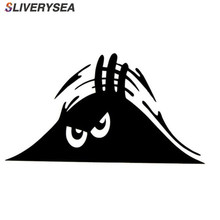 SLIVERYSEA Peeking Monster Car Sticker Vinyl Decal Decorate Waterproof Fashion Funny Styling Accessories