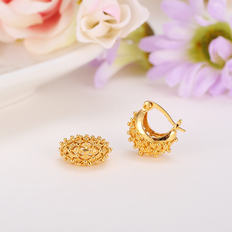 2pairs Gold New Tiny Cute clip Earrings for Women Girls daily wear ...