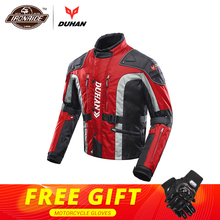 DUHAN Motorcycle Jacket Men Motocross Jacket Windproof Autumn Winter Cotton Lined Motorbike Moto Jacket Protective Gear