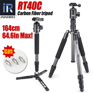 Image 1 - RT40C Professional Carbon Fiber tripod for digital dslr camera light weight stand high quality tripe for Gopro tripode 164cm max