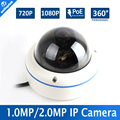 Fisheye Lens HD 720P 1080P Dome IP Camera Network View 360 Degree Panoramic Outdoor 1.0MP 2MP IP Camera Onvif With POE P2P Cloud