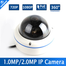 Fisheye Lens HD 720P 1080P Network View 360 Degree Panoramic Outdoor 1.0MP 2.0MP Dome IP Camera Waterproof With POE P2P Cloud