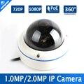 Fisheye Lente HD 720 P 1080 P Dome IP Câmera de Rede Visão 360 graus Panorâmica Ao Ar Livre Câmera de 2MP IP Onvif Com POE P2P 1.0MP nuvem