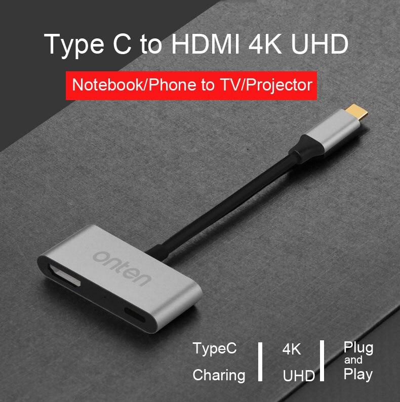 100% Kwaliteit Type C Tot 4 K Hdmi 1080 P Video Kabel Adapter Opladen Converter Connector Voor Macbook/chromebook/mac Pc Naar Tv Projector Fijn Verwerkt