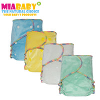 Miababy 3pcs Lot Washable Reusable Real Cloth Bamboo Velour AI2 Diaper Fit Birth To Potty 5