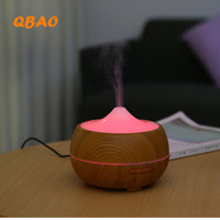 Ultrasonic Humidifier Wood Diffuse 24V 400ml Timer Function 1H 3H 6H ON Aromatherapy Essential Oil Diffuse