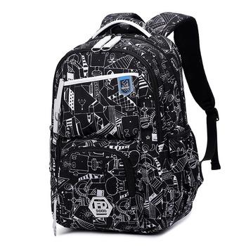 Nowy 2018 Oxford trwały szkolny plecak dla chłopców gimnazjum Bookbag wodoodporny College laptopy plecak mężczyźni torba podróżna tanie i dobre opinie senkey style żakaradowy Rama zewnętrzna 20-35 litrów Kieszonka na telefo Wewnętrzny przedziałek Otwór na wyjście