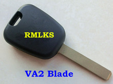 RMLKS Replacement Shell Transponder Key Case Fit For Peugeot For Citroen Car Key Fob Uncut VA2 Blade
