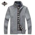 Plus Size 2XL 3XL Casual Mens Suéter Gola Blusas Blusas de Inverno Quente de Veludo Grosso Roupas Quentes dos homens