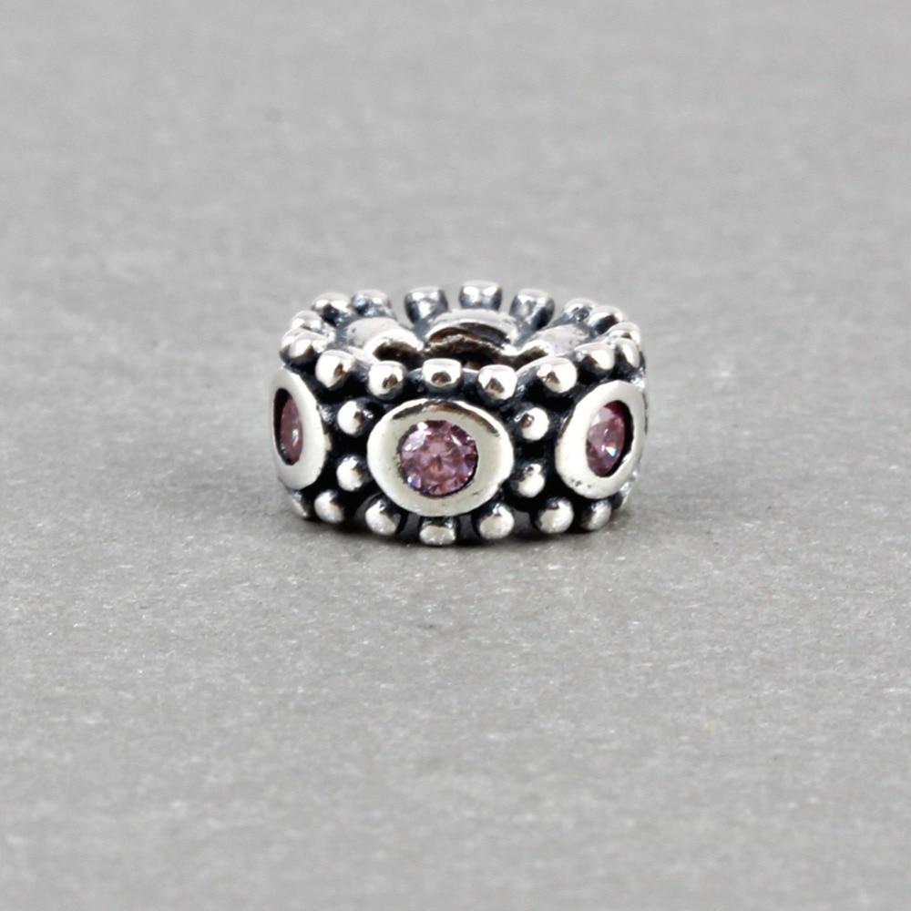 18d0a39877ef ZMZY auténtico 100% 925 plata esterlina encantos del grano cristalino con  colorido CZ Fit Pulsera Original de Pandora joyería de lujo