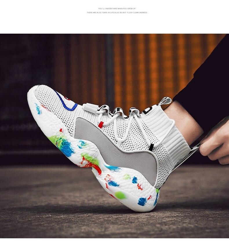 HTB1VukobfBj uVjSZFpq6A0SXXaX Shoes For Men Sneakers Casual Men Sock Shoes Breathable Tenis Masculino Adulto High Top Man Trainers Zapatos Hombre Sapatos