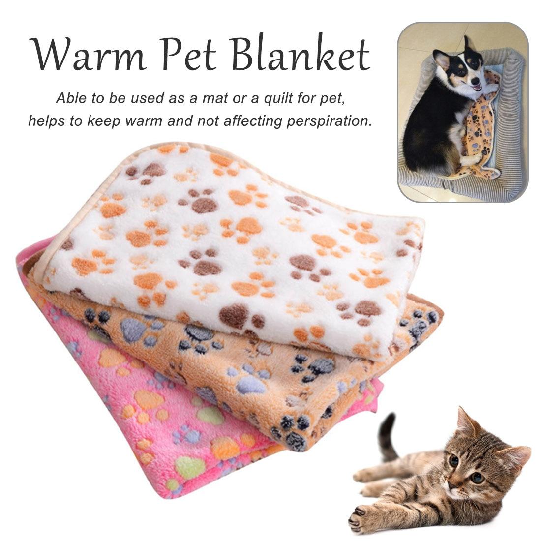 Pet Blanket Ultra Soft Baby Dog Cat Warm Blanket New Cat Fleece Throw 6 Colors