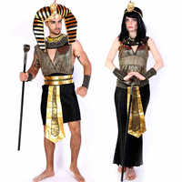 2017 New Halloween Cosplay Adult Kids Egyptian Pharaoh And Cleopatra Costume Egypt Princess Costumes Egyptian Pharaoh Masquerade