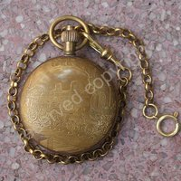Antique Style Design Bronze Tone Cover Wind Up Mechanical Men's Pocket Watch New Wholesale Price H132