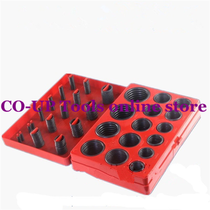 382 Pcs 30 Sizes Black Plastic Holder Rubber O Ring Oil Seal Gaskets Set with Case new portable handheld metal microscope loupe 60x with led light illumination free shipping