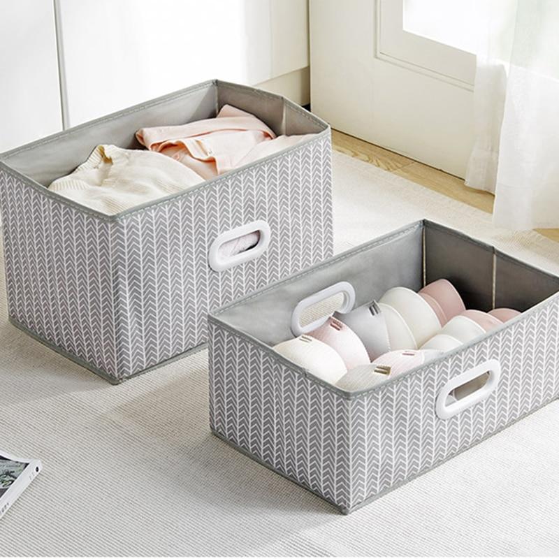 New Storage Box Large Capacity Non woven Foldable Coverless Clothes Toy Book Debris Organizer Home Kitchen Wardrobe Storage Box|Storage Boxes & Bins| |  - title=