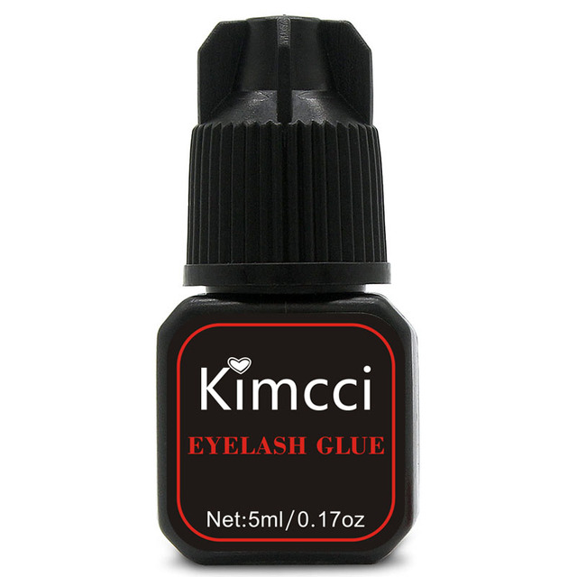 Kimcci 5ml False Eyelash Extension Glue 1 3 Seconds Fast Drying Eyelashes Glue Pro Lash Glue Black Adhesive Retention Long Last