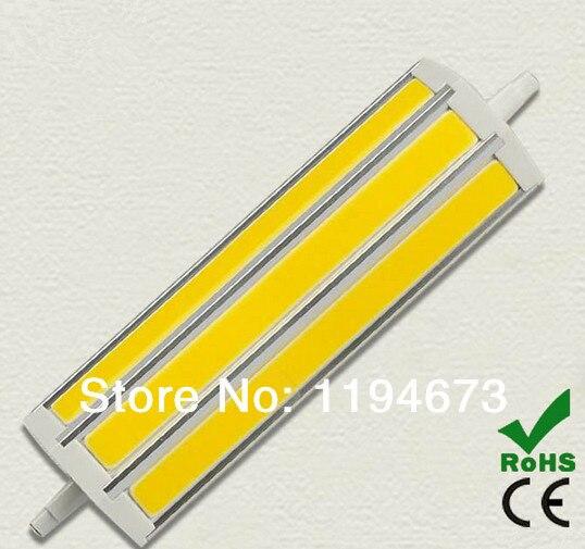 DHL Free Shipping 118mm R7S 15W Warm White/Cool White COB LED flood light led bulb led light led lamp 1500lm AC85~265V