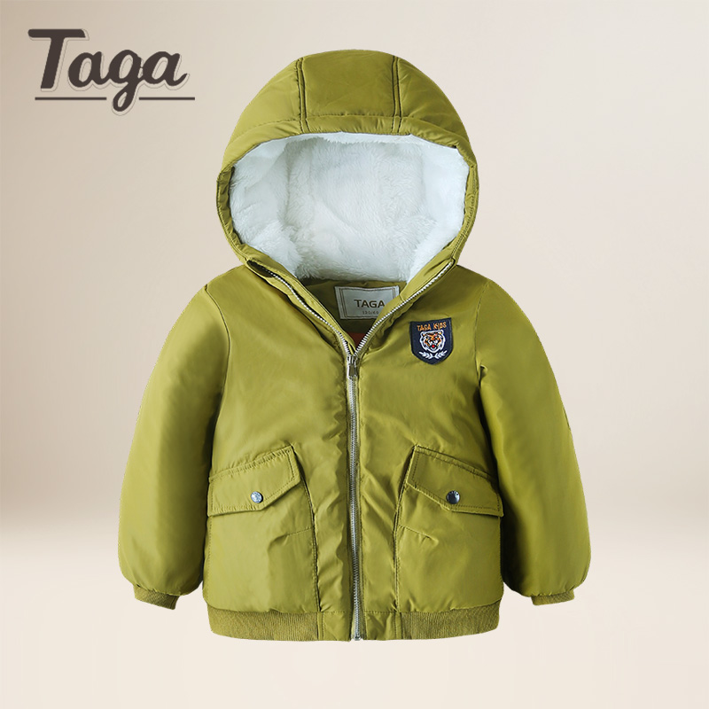 TAGA Baby Boys Jacket 2017 Winter Jacket For Boys Cotton Hooded Down Jacket Kids Warm Outerwear Children Clothe Infant Coat children winter coats jacket baby boys warm outerwear thickening outdoors kids snow proof coat parkas cotton padded clothes