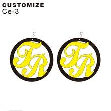 Personalised round Nameplate Earrings