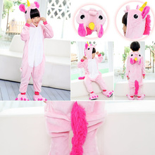 Kigurumi Pajamas for Children Girls Unicorn Anime Panda Onesie Kids Costume Boys Sleepwear Pokemon Jumpsuit Licorne Animal 2-12