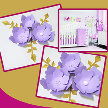Handmade Lilac Rose DIY Paper Flowers Pink Leaves Set For Party Wedding Backdrops Decorations Nursery Wall Deco Video Tutorials